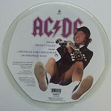 AC/DC, Money Talks, NEW/MINT SHAPED PICTURE DISC 12 inch vinyl single