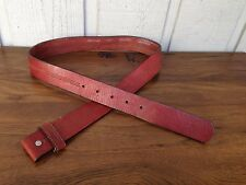 Carhartt Genuine Leather Belt Strap Size Small/32.Snap on,Brown