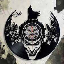 Reloj De Pared Warner Brothers Wb Dc Batman Hecho a Mano vinyl record moderno Vintage