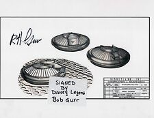 The Disneyland Flying Saucer Design Patent; signed by Disney Legend Bob Gurr