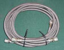 """2 NEW FILTRATION SOLUTIONS Hose Teflon Braided Stainless Steel -6 AN 67"""" & 103"""""""