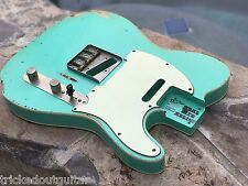REAL LIFE RELICS AGED CUSTOM SEAFOAM GREEN TELE TELECASTER BODY DOUBLE BOUND
