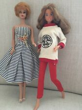 Vintage Bubble Cut Barbie and Skipper Doll Twist N Turn and Clothing