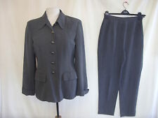 "Ladies Trouser Suit - Wallis, size 12, 28"" waist, grey, 27"" leg, tapered - 7818"