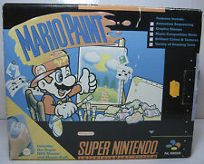 SNES SUPER NINTENDO 1992 MARIO PAINT with MOUSE & PAD EUROPEAN PAL NEW (n)