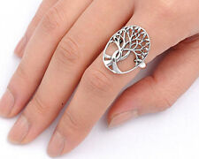 USA Seller Tree of Life & Leaf Ring Sterling Silver 925 Best Deal Jewelry Size 7