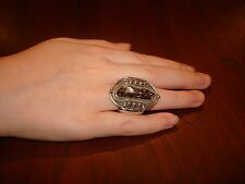 Amazing, Huge Sterling Silver Ring With a Gemstone.925 Unique.Sz-7