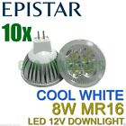 10 X LILIANO LED MR16 8W bulb downlight spotlight globe COOL WHITE NON DIMMABLE