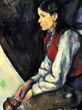 PAUL CEZANNE BOY WITH RED VEST OLD MASTER ART PAINTING PRINT POSTER 2048OMA