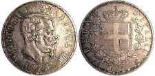 pci980) Regno Vittorio Em II Lire 5 1875 Ottimo esemplare