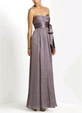 "$348 BCBG WISTERIA ""LUB6D989"" RUCHED STRAPLESS SILK LONG GOWN DRESS NWT 8"