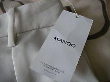 MANGO BEIGE/CREAM PANTALON SUIT TROUSERS, SIZE SMALL