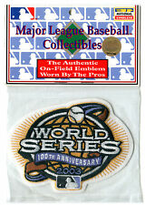 2003 WORLD SERIES MARLINS YANKEES OFFICIAL MLB BASEBALL JERSEY PATCH MINT