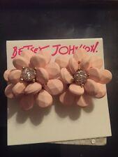 Betsey Johnson Marie Antoinette Flower Button Stud Earrings F18