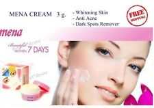 Mena White Whitening Facial Cream For Lightening Skin Remove Acne Dark Spot 3g.