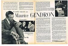 Coupure de presse Clipping 1961 (2 pages ) Maurice Gendron