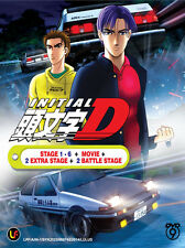 Anime Initial D Stage 1-6 + 2 Extra Stage + 2 Battle Stage + Movie *Complete*DVD