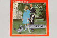 "DON & DOTTI -Ich Sag: Danke Schön / Nightingale- 7"" 45 Cornet ‎Records (3017)"