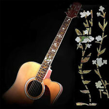 Guitar Bass Inlay Sticker Fretboard Marker Flowers Grass and Hummingbird Decal