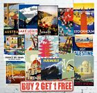 Vintage Popular Retro Travel & Railway Posters Wall Art Prints A5/A4/A3