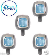 4 x Febreze Linen & Sky Scent Car Vent Clips, Air Freshener, Odor Eliminator New