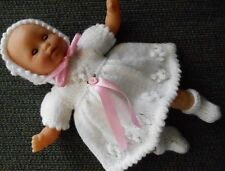 "Doll Clothes White dress set fit 11in. Tiny Tears, 12"" Corolle Premie Mom"
