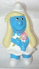 Charming Vintage SMURFETTE Hand Painted Ceramic Figurine Smurfs Lady