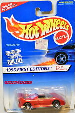 HOT WHEELS 1996 FIRST EDITION FERRARI F50 #12/12 RED BAD CARD