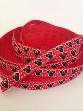 "Minnie Mouse Ribbon 3/8"" Wide 2m is only £0.99 NEW"