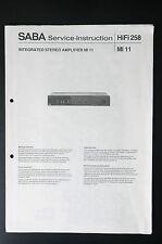 SABA MI 11 Originale Manuale di Servizio/manuale servizio/Schema elettrico! o32