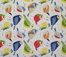 """RICHLOOM CONTATTO CONFETTI 100% COTTON ABSTRACT BIRD FABRIC BY THE YARD 54""""W"""
