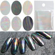 Starry Decals Broken Glass Transfer Foils Galaxy Nail Art Stickers Manicure