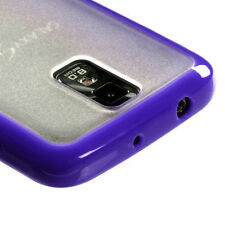 Samsung Galaxy S2 T989 (T-Mobile) - Purple Clear TPU Gel Gummy Hard Rubber Case