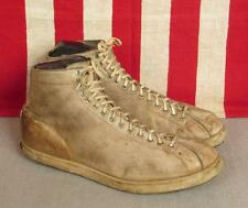 Vintage Antique Leather Basketball Sneakers Athletic Shoes Burk & Co. Nashville