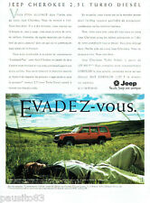 PUBLICITE ADVERTISING 125  1996  JEEP CHEROKEE  TD LUXE  2.5L