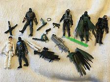 Small GI Joe ARAH Action Figure Lot Snake Eyes Storm Shadow Accessories