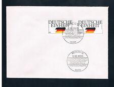 """Briefmarken BRD 1990 """" Deutsche Einheit """" Sonderstempel Erstausgabetag"""