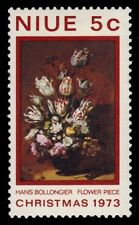 """NIUE 161 (SG180) - Christmas """"Flowers"""" by Hans Bolloniger (pa31854)"""