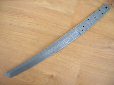 Custom made Damascus steel made knife Tanto blank blade Superb blade