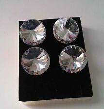 10pcs x 25mm Diamante/Diamond/Crystal Clear Upholstery Headboard Buttons