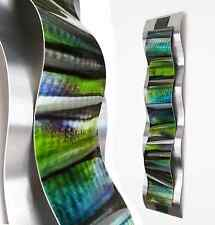 Modern Abstract Metal Wall Sculpture Art Tropical Blue Painting Home Decor New