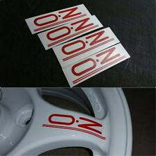 4 PCS OZ Rally Wheel Decals Red EVO 1 2 3 CE9A Lancer Mitsubishi Colt JDM