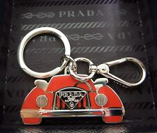 Prada Red and Silver Car keyring/bag Charm