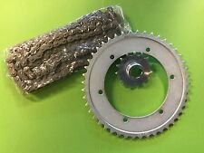 DUCATI bevel single 125 up to 250 cc set chain,front and rear sprocket