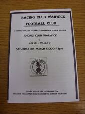 08/03/2014 Racing Club Warwick v Pelsall Villa  . Thanks for viewing our item, i