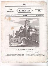H917-FERRARA-IL CASTELLO DALL'ALBUM 1836