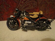 Harley Davidson Limited Edition Collectible 1933 Motorcycle/Sidecar Bank Black