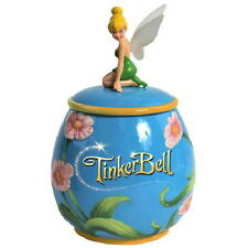 Walt Disney's Tinker Bell Kneeling On Flowers Figure Ceramic Cookie Jar 2011 NEW