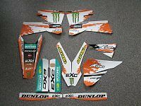 Ktm Exc 450 2003 White Monster Graphics Kit