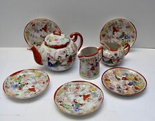 Vintage Japanese Handpainted Geisha Tea Set - 8 Pieces
